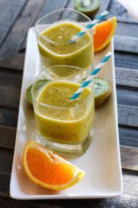 Homemade Electrolyte Kiwi Citrus Slushy