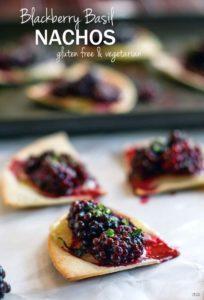 Gluten Free Blackberry Basil Nachos {Vegetarian}