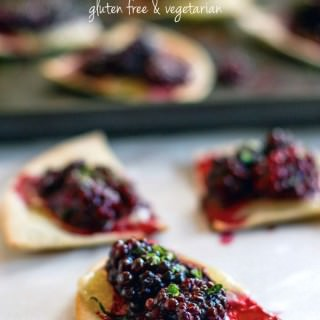 Blackberry Basil Nachos are a gluten free, vegetarian nachos recipe. Amazingly delicious, protein packed, kid friendly, healthy, and ready in 20 minutes!