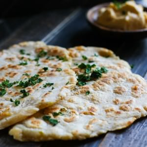 grain free naan bread made on stove top.
