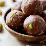Chocolate Coconut Pistachio Bites {Paleo/Vegan}