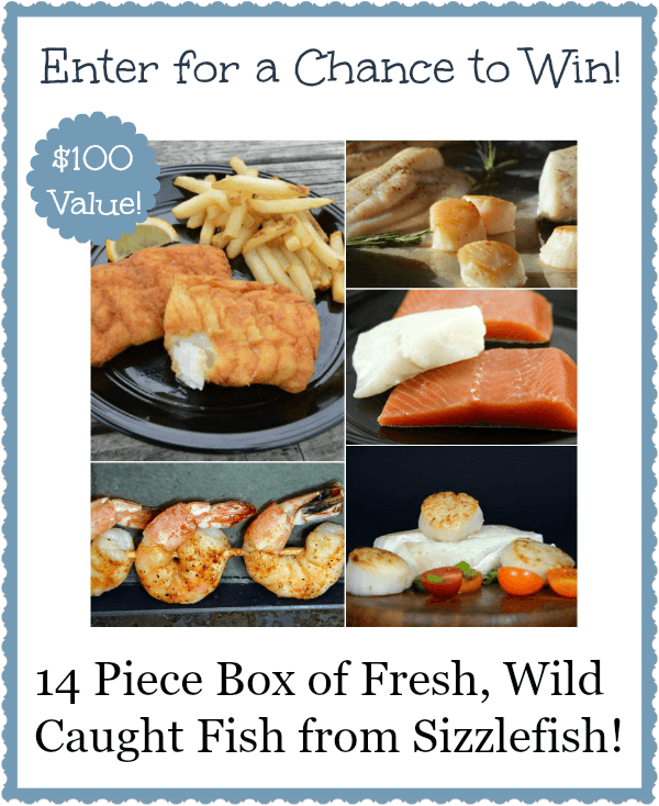 Sea themed party menu and @sizzlefishfit giveaway!