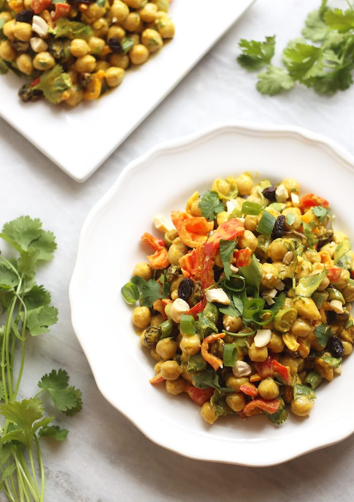 curry chickpea salad (vegan)
