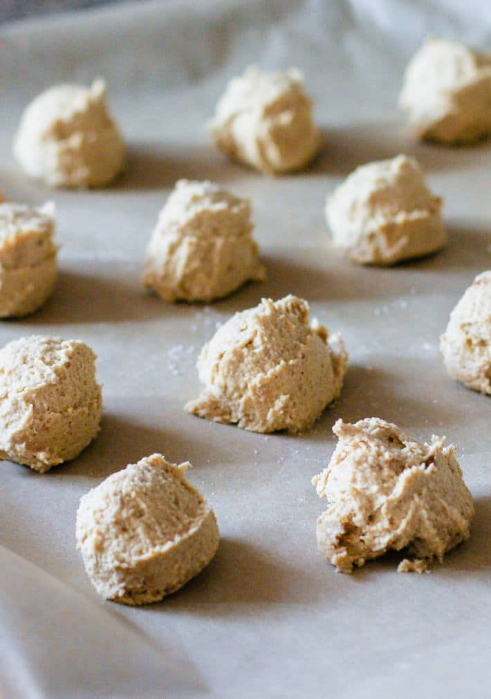 paleo sugar almond cookies dough made with Cassava flour