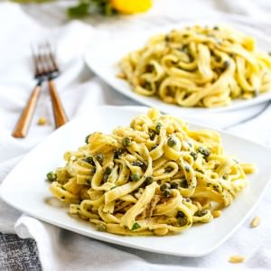 There is a reason we love capers for health benefits! Find out why and try this Grain Free Fettuccine Pasta with Capers, Pine Nuts, and herbed yogurt sauce. Comfort food with a Healthy Twist! Get the recipe and the facts- http://www.cottercrunch.com/healthy-fettuccine-gluten-free/ Pin for later-https://www.pinterest.com/pin/114278909272293227/ Ready in 30 minutes and will nourish you and your whole family.