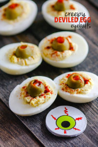 Deviled Egg Eyeballs and Spooky Paleo Halloween Snacks!