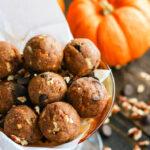 Pumpkin Spiced Chocolate Pecan Pie Bites {Grain Free & Vegan Friendly}