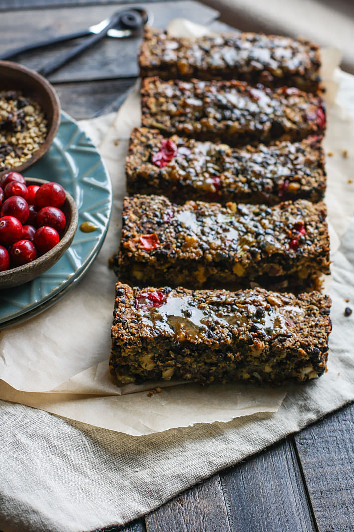 Gluten free Vegan Cranberry Lentil loaf! with simple maple glaze! Super easy to make as a side dish or a main dish.