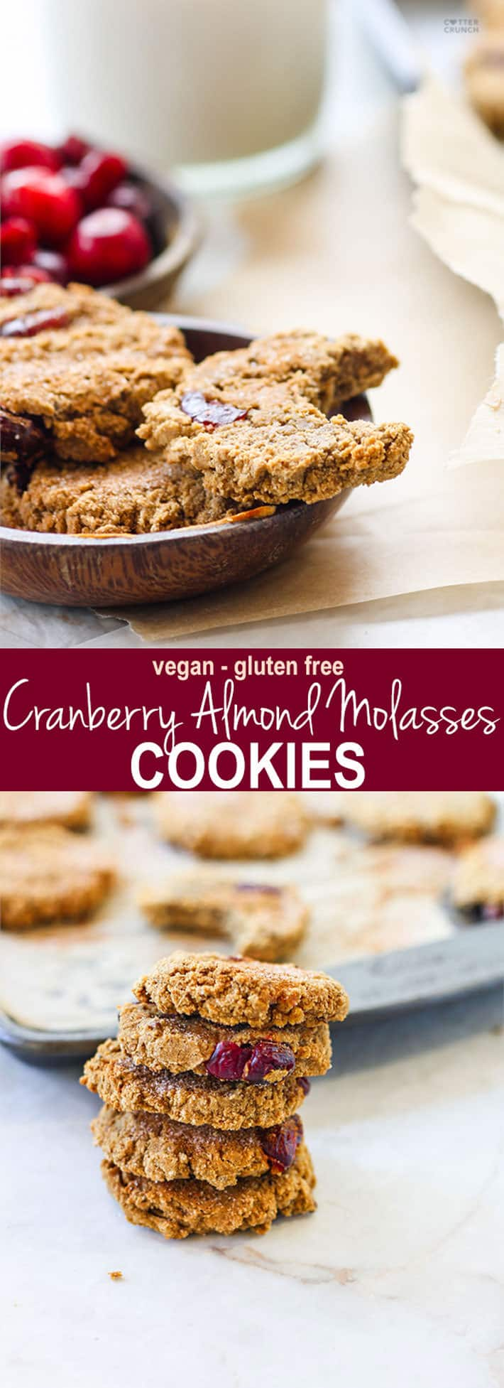 Vegan Cranberry Almond Molasses Cookies – And Why Molasses is the New SUPERFOOD!