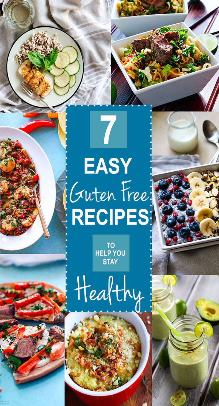 Seven EASY Gluten Free Recipes we rely on to stay healthy! The new year is here, stay healthy and eat well with these tried and tested easy gluten free recipes. Vegan, paleo, and Vegetarian options. We love them all and use them all for overall health and wellness.