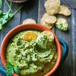 Easy Chimichurri White Bean Hummus {Vegan}