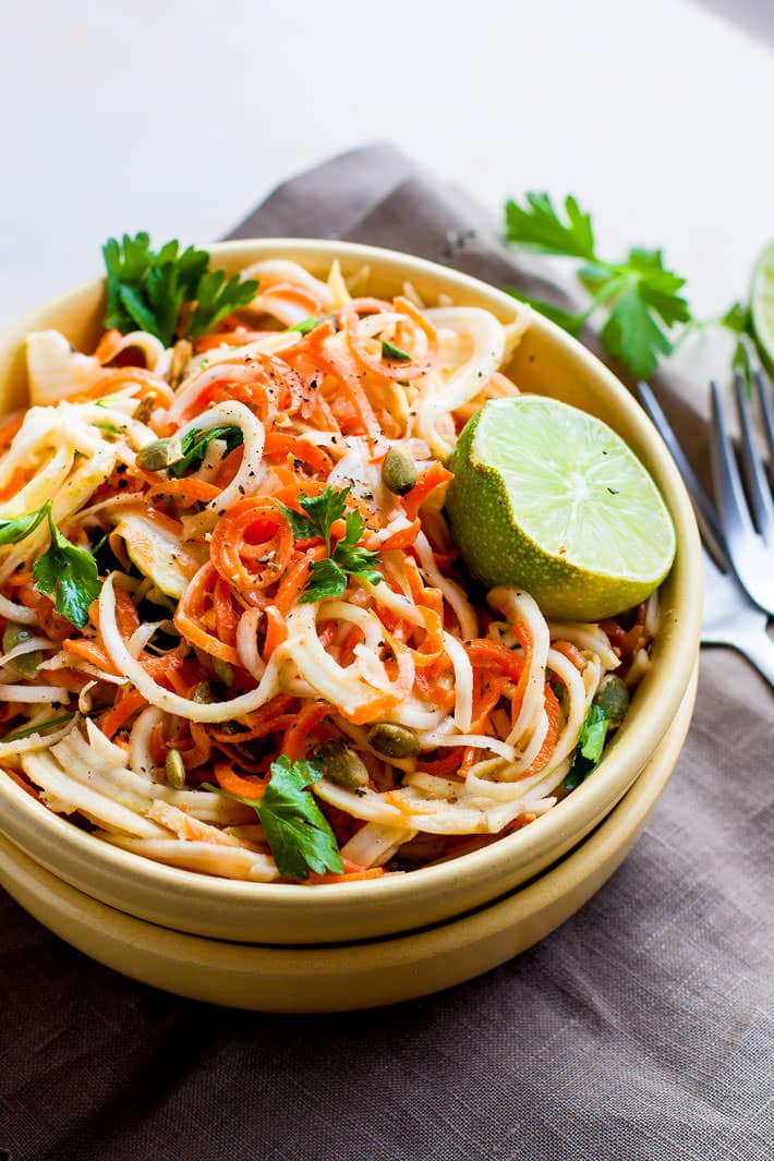 Carrot Celeriac Spiralized Salad 4