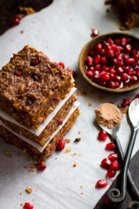 Gluten Free Chocolate Almond Bars with Pomegranate {Vegan Friendly}
