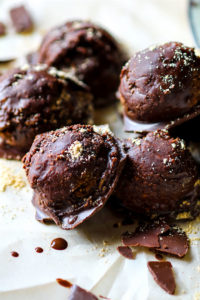 Vegan Chocolate Peanut Butter Dough Balls with Hidden Veggies