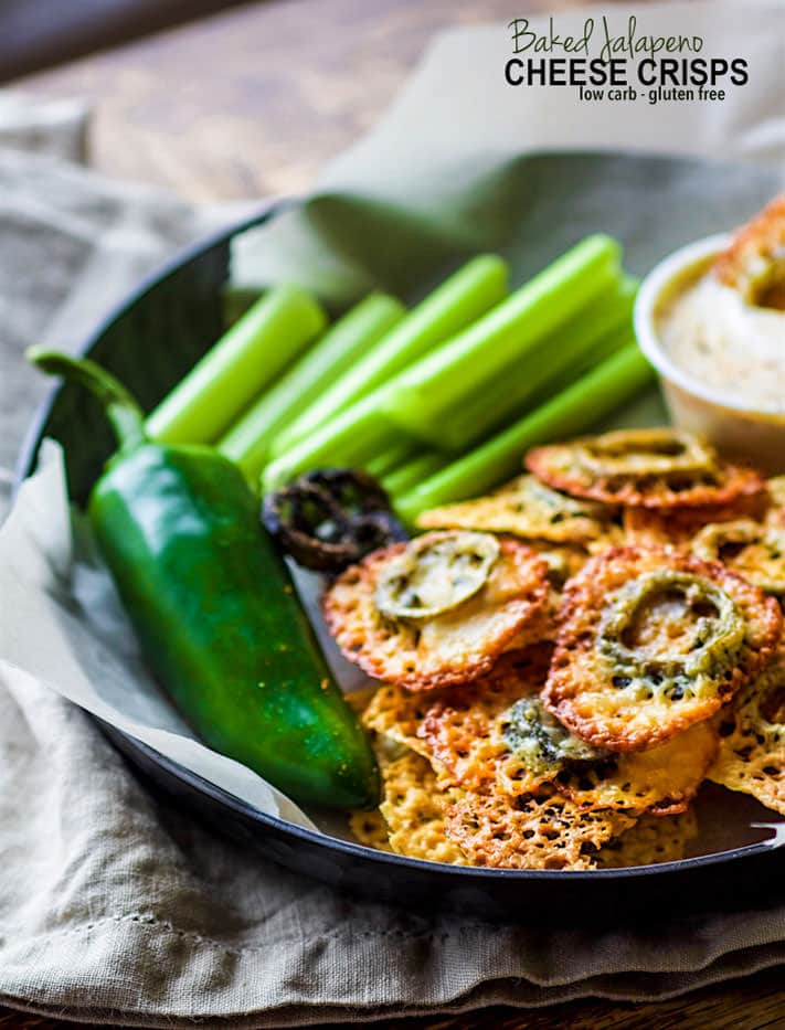 Low FODMAP friendly Gluten Free Baked Jalapeno Cheese Crisps