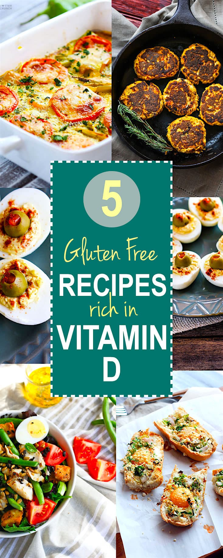 5 Gluten Free Recipes with Eggs to Boost your Vitamin D! Stay healthy this year with these nourishing gluten free Vitamin D rich recipes. Easy to make, healthy, and family approved!