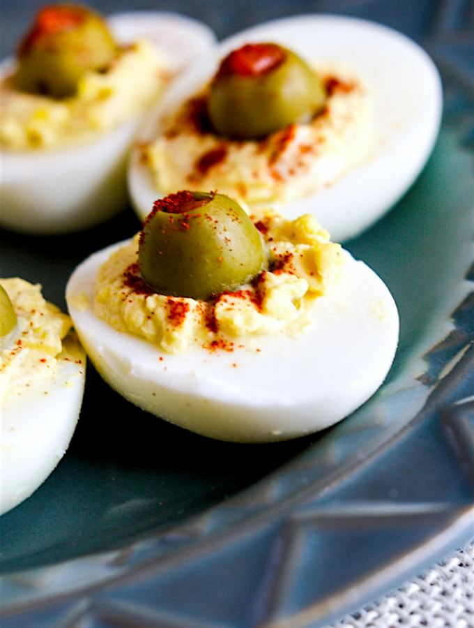 Creamy Olive Deviled Eggs- low carb (1 of 1)-2