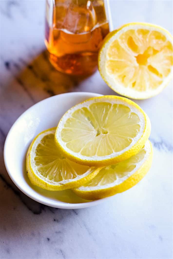 Honey Lemon Vanilla Gluten Free French Toast {Vegan Friendly} plus a dairy free cream sauce to top