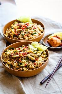 Cashew Satay Spiralized Vegetable Stir Fry {Paleo, Vegan}