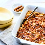 Easy Gluten Free Carrot Cake Bread Pudding {Dairy Free, Make Ahead}