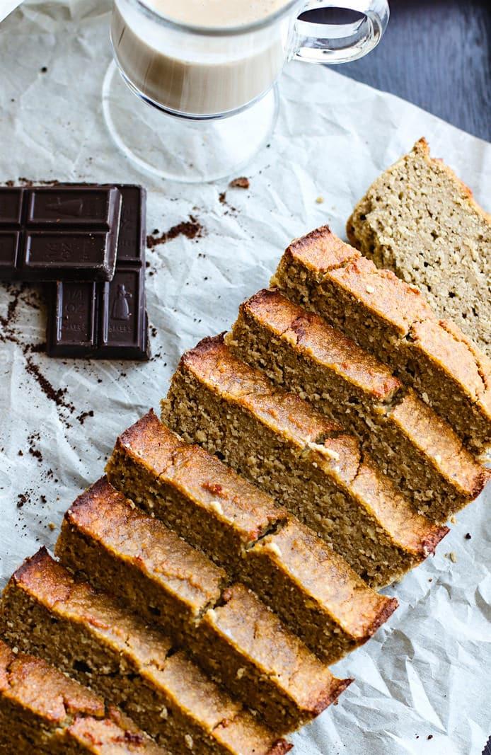 homemade irish cream banana bread grain free-dairy free