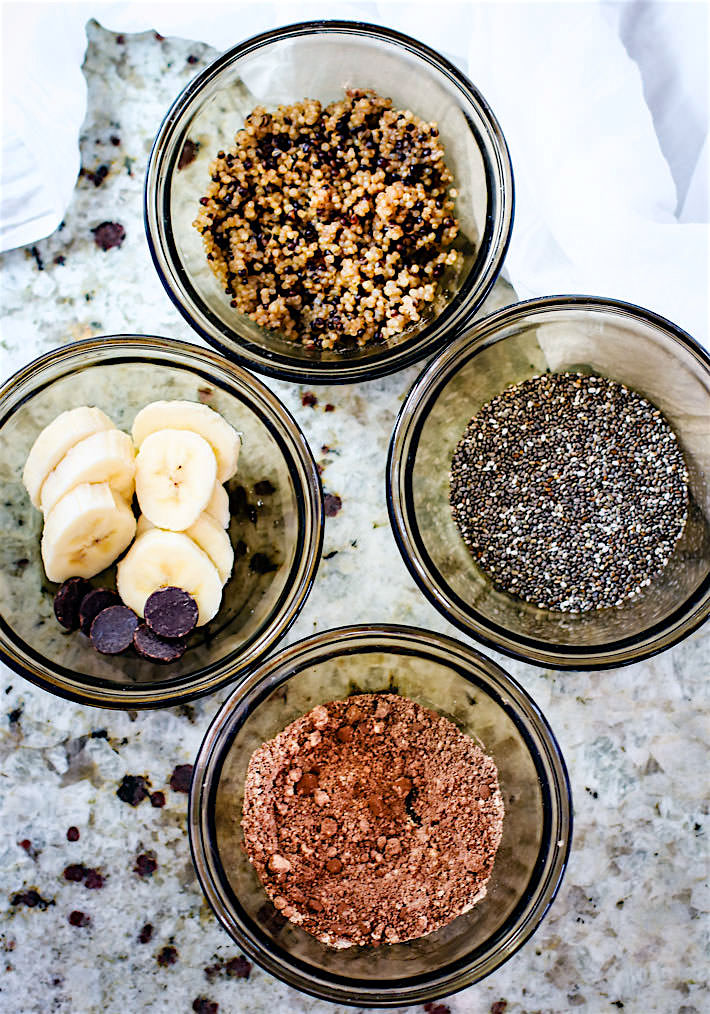 Super Simple Chocolate Banana Quinoa Microwave Mug Cake! A delicious gluten Free and dairy Free effortless One Minute Mug Cake that will leave you feeling nourished and energized!