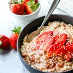 Energy Boosting Honey Sesame Strawberry Overnight Oatmeal {Gluten Free, Vegan}
