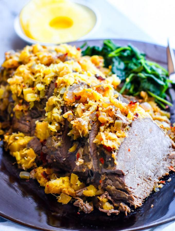 Crock Pot Sweet and Sour Hawaiian Beef (Paleo)
