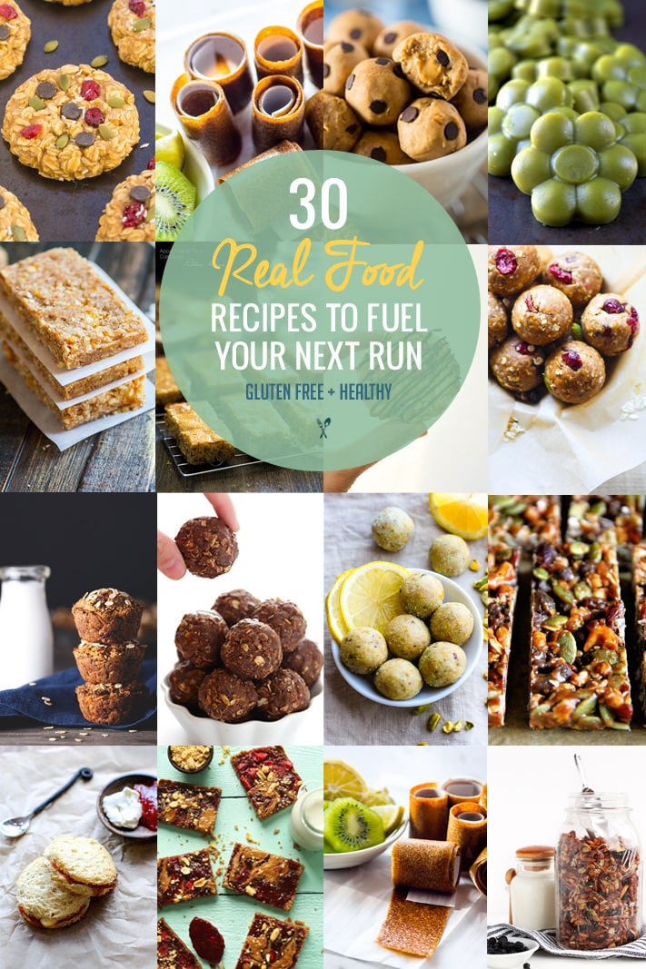 Skip the packaged food and try these 30 Real Food Gluten Free Recipes to Fuel Your Next Run or Workout! Natural energy to fuel you for a run or even sustain you after! Gluten free recipes that are healthy, easy to make, homemade, and delicious. Kid friendly but liked and enjoyed by all! @cottercrunch