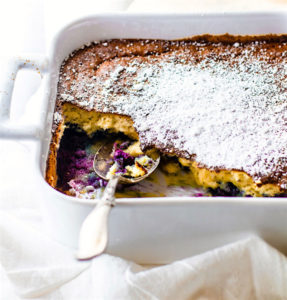 DREAMY Paleo Blueberry Coconut Soufflé Bake! {Low Carb, Healthy, Fool Proof}