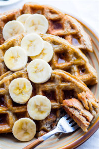 EASY Blender Banana Rice Gluten Free Waffles {Freezer Friendly, Vegan Option}