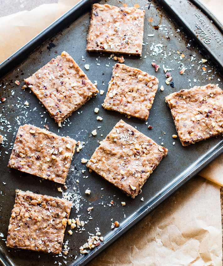 "Super easy 3 Step Paleo ""Baklava"" Bars! healthy vegan friendly paleo baklava bars that are packed full of sweet nutty flavor and healthy fats. Lower in carbs, sugar, and great for snacking or breakfast on the go. A paleo bar that tastes like dessert but made with simple real food!"