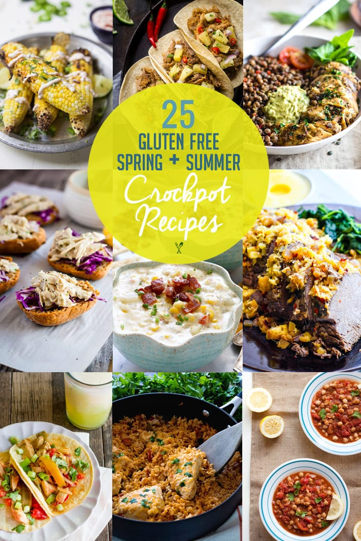 25 Spring/Summer Gluten Free Crock Pot Recipes! Perfect for BBQ's, easy clean up, healthy, delish!