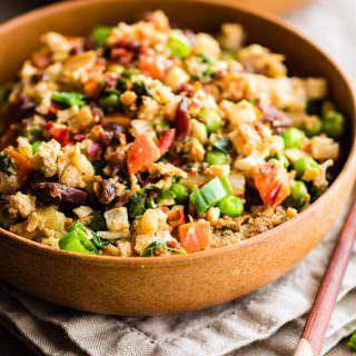 Paleo Cauliflower Fried Rice! easy and quick