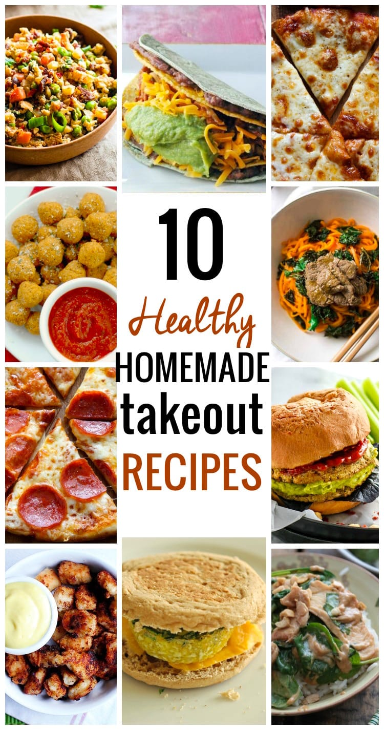 10 Healthy Homemade Takeout Recipes. Put down those takeout menus and find inspiration with these 10 healthy homemade versions of your family's favorite takeout recipes. http://www.superhealthykids.com/10-healthy-homemade-takeout-recipes/