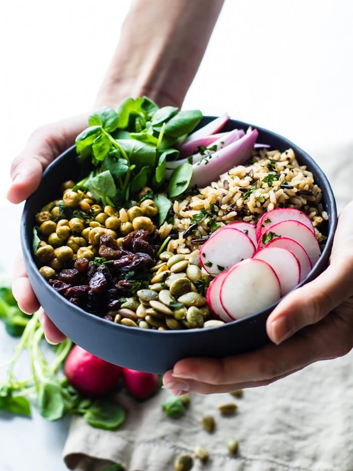 garden veggie vegan buddha bowls (gluten free)