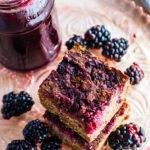 Blender Blackberry Quinoa Cakes