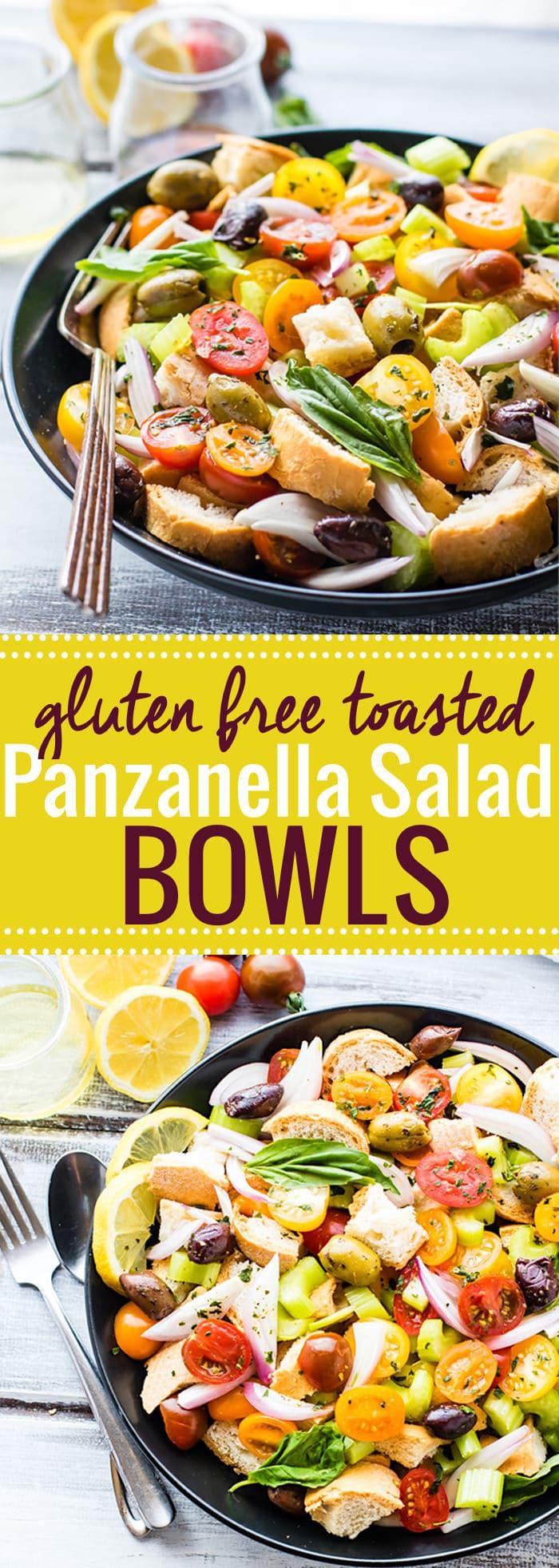 toasted panzanella salad bowls