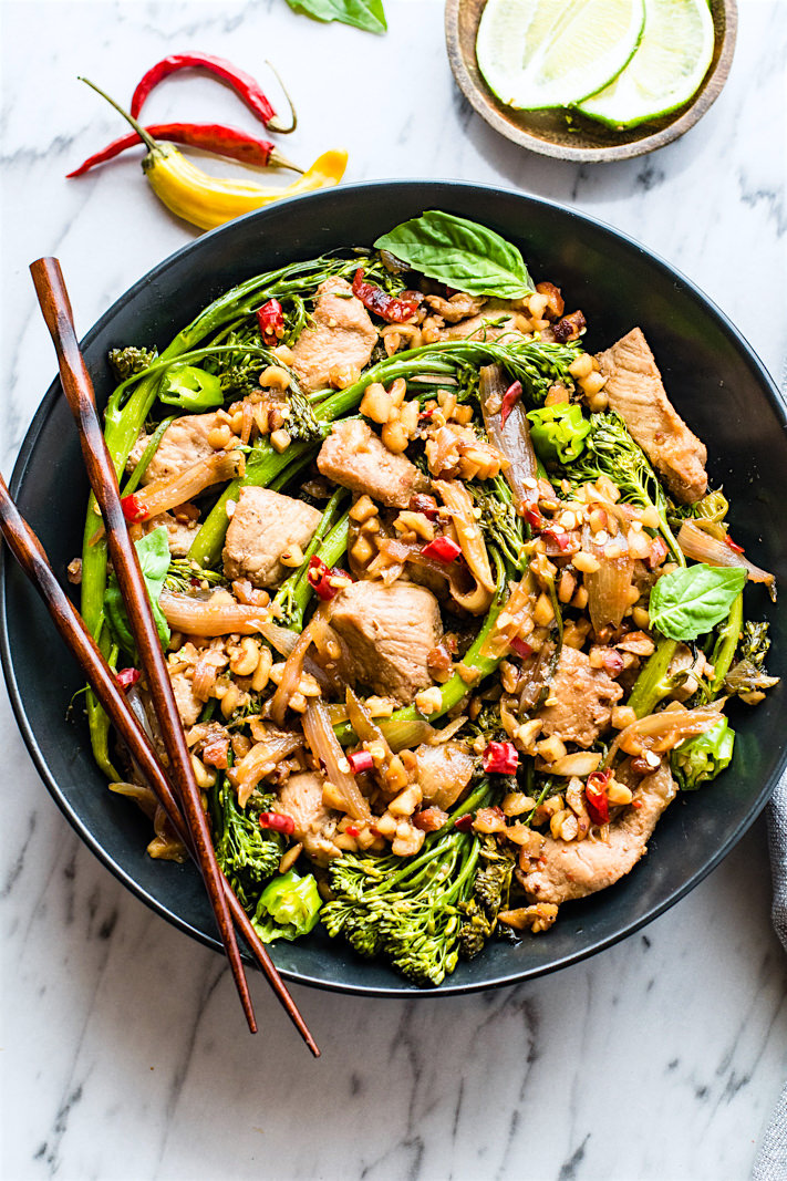 thai style pork broccolini stir fry (paleo) (4 of 1)