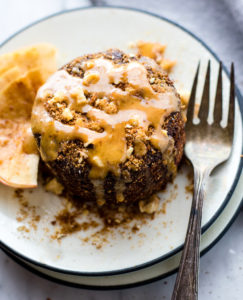 Apple Pie Peanut Butter Mug Cake {Vegan, Grain Free}