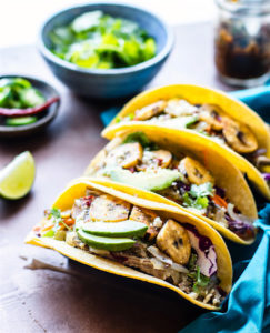 Crock Pot Cuban Pork Tacos with Fried Plantains {Gluten Free}