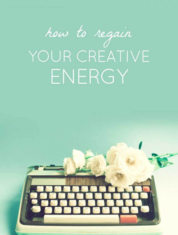 How to regain your creative energy with the 3 R's. Refocus, Refresh, Restore.