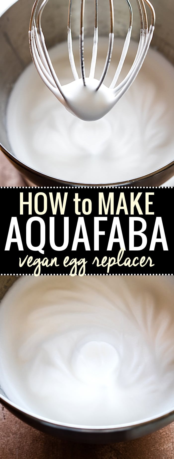 Aquafaba is the new trend in Vegan baking and Egg Free baking. It's easy, healthy, and versatile! You can whip it up to use in place of egg whites, or just use the juice (Chickpea brine) for whole egg baking. Learn How to make Aquafaba with just a can of chickpeas in this video tutorial. More info and Tips on using Aquafaba on http://www.cottercrunch.com