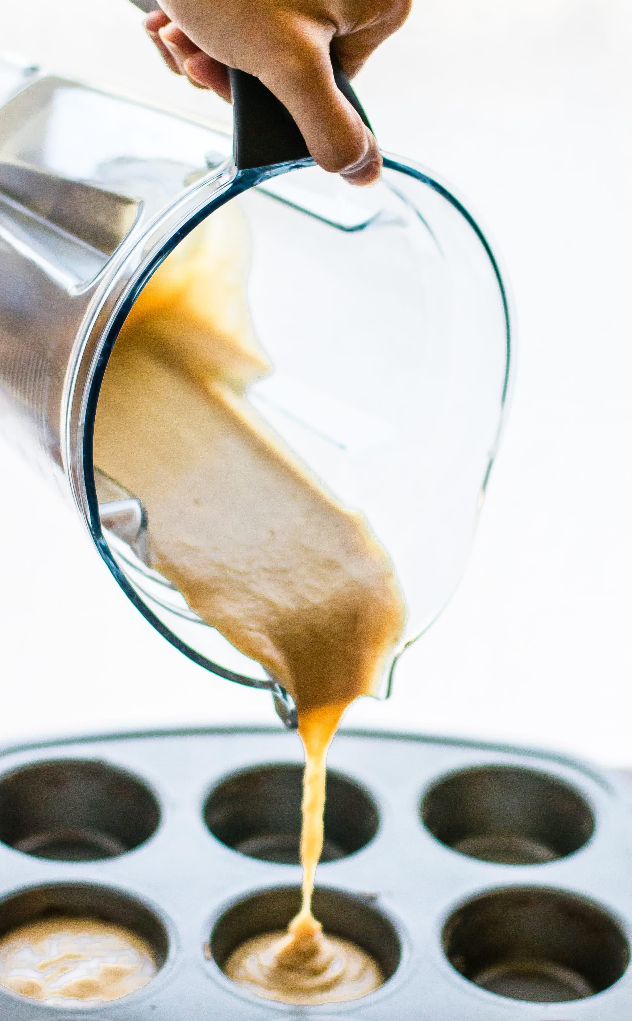 Paleo Sticky Coffee Cake Muffins batter