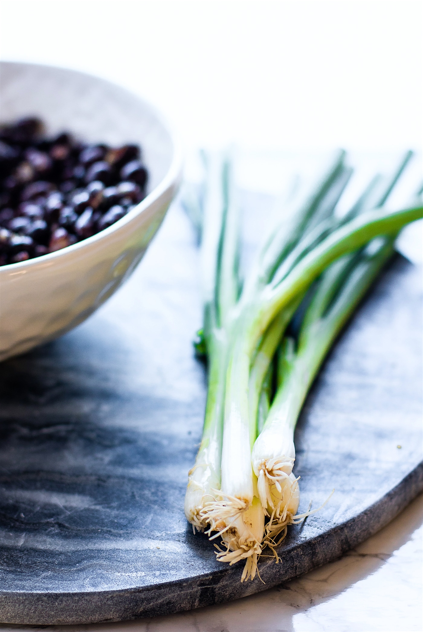 scallions and black beans
