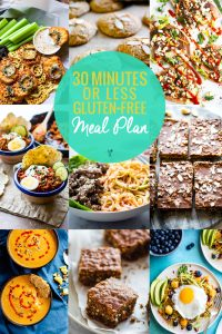 30 Minute or Less Gluten Free Meal Plan