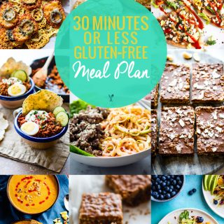 A gluten free meal plan that's quick and healthy! 30 minutes is all you need to make these simple gluten free meal plan recipes!
