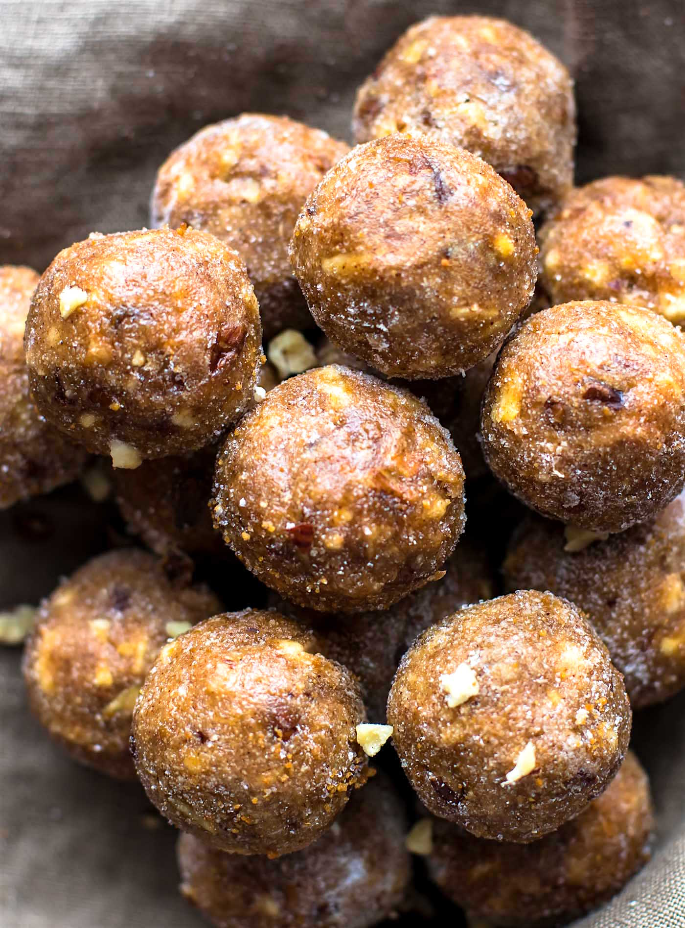 "Bourbon Banana Bread bites make a delicious quick no bake dessert! These Honey Bourbon Banana bread bites are gluten free with ""spiked"" flavor. Vegan option."