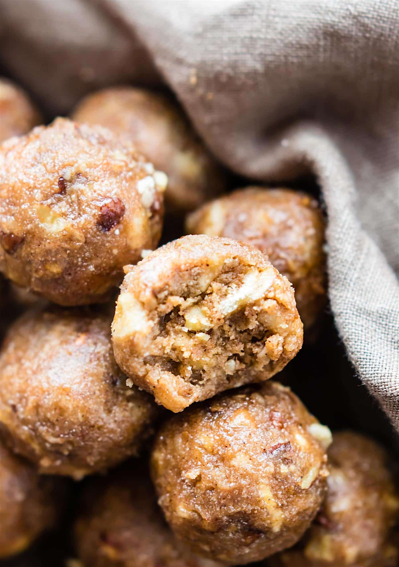 "These Bourbon Banana Bread bites make a delicious quick no bake dessert! A gluten free Bourbon Banana bread bites recipe with a little ""spike"" and seasonal spices. Whip them up for a holiday dessert or tasty snack ready in no time. Dairy free and non alcoholic Vegan option."