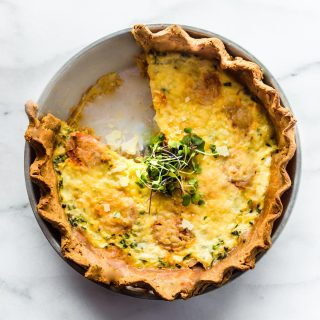 The easiest gluten free made from scratch quiche recipe!